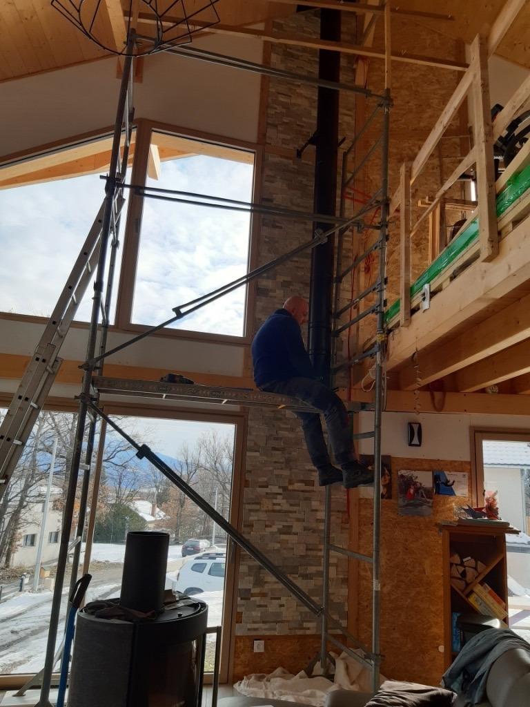 Installation poele a bois pres de chorges